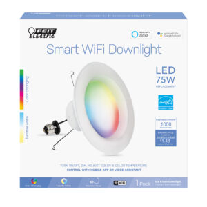 "Feit Electric 6"" Smart Downlight Alexa Google"