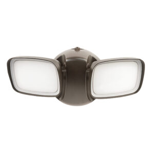 28-Watt Bronze Outdoor Integrated LED Flood Light with Dusk to Dawn