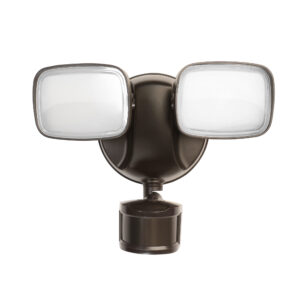 28-Watt Bronze Outdoor Integrated LED Flood Light with Dusk to Dawn - Feit Electric