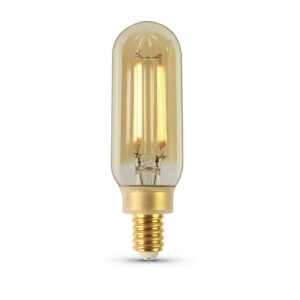 40 W Equivalent Vintage T8 Amber Glass Original Vintage LED Light Bulb