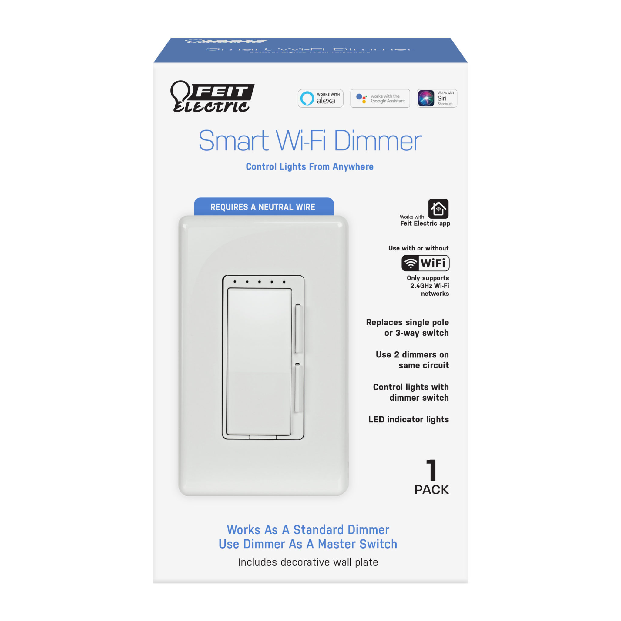 Feit Electric Wi-Fi Smart Dimmer Switch