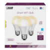60 Watt Equivalent Soft White A19 Dimmable Smart Wi-Fi LED Light Bulb (3-Pack)