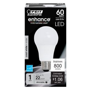 60-Watt Equivalent A19 Cool White Dimmable LED