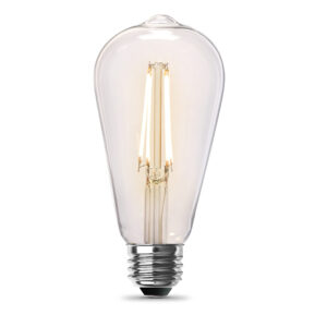 60-Watt Equivalent Soft White ST19 Clear Filament LED