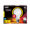 60-Watt Equivalent A19 Bright White Glass Filament LED (4-Pack)
