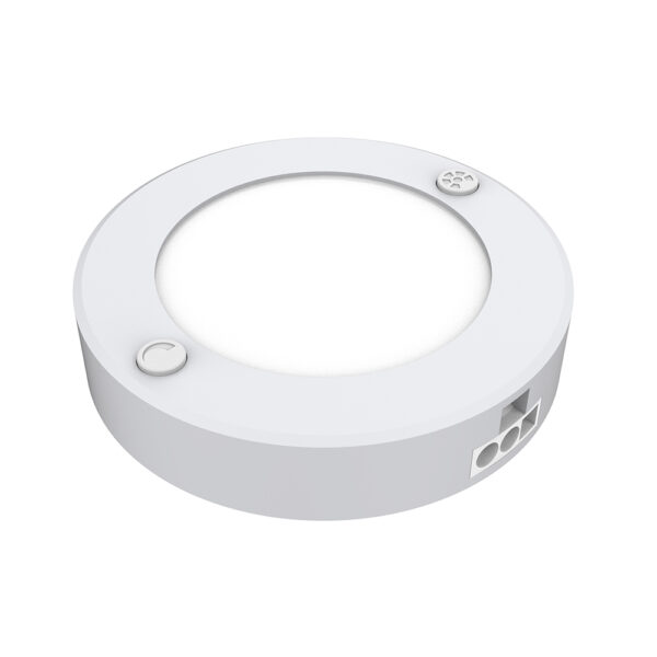 3 in. Under Cabinet Color Selectable LED Puck Lights (3-Pack)