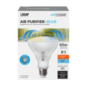 60-Watt Equivalent BR30 Color Selectable LED Light Bulb With Air Purifier