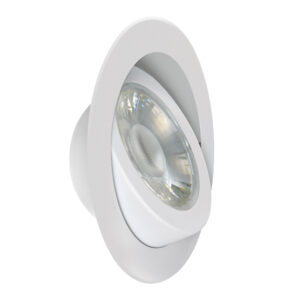 6 in. Color Selectable Tethered J-Box Adjustable Angle Recessed LED Downlight