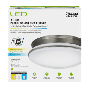 11 in. Round Puff LED Ceiling Fixture