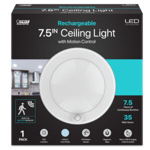 7.5 in. Round Rechargeable Motion Sensing Ceiling Light
