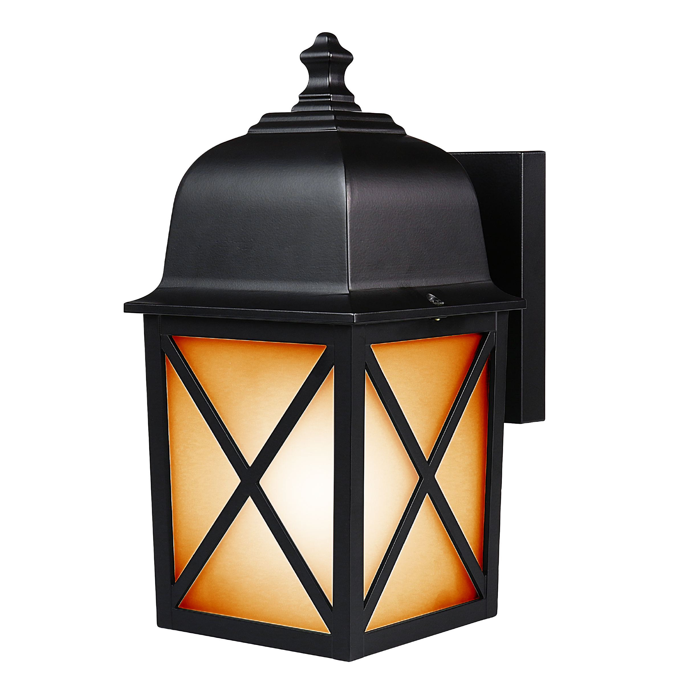 300 Lumen Soft White & Flame Effect Lantern