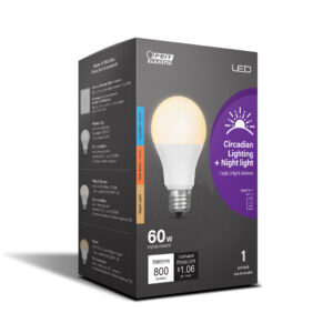 60-Watt Equivalent Color Selectable A19 Timer Intellibub With Night Light